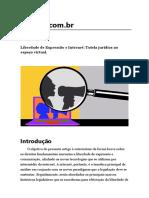 Liberdade de Expressão e Internet_ Tutela Jurídica No Espaço Virtual_ - TCC FOCO