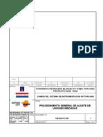 109-D91PC-007 AJUSTE DE UNIONES BRIDADAS