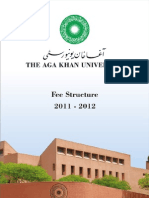 Fee Structure 2011 - 2012