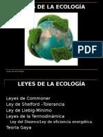 5 Leyes de la Ecología (Commoner Shelford Liebig Termodinámica Diezmo  Eficiencia energética.