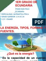 4. LA ENERGIA, TIPOS FORMAS Y FUENTES-1ER GRADO DE SEC.