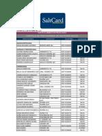 Cartilla de Prestadores de SaltCard Salud