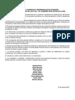 CANDIDATOS Y CANDIDATAS  PRESIDENCIALES DE OPOSICIÓN