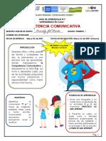 GUÍA 9 COMPETENCIA COMUNICATIVA GRADO PRIMERO
