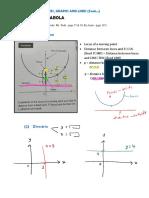 (1.5) (C) Parabola - notes
