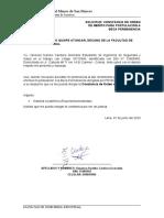 SOLICITUD DE CONSTANCIA DE ORDEN DE MERITO