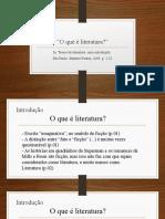 O que e literatura