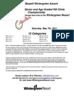 Wintergreen Ascent Race Flyer 2011