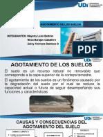 AGOTAMIENTO DE LOS SUELOS