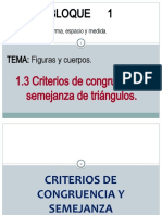 1.3 Criterios de congruencia y semejanza de triángulos (propiedades)