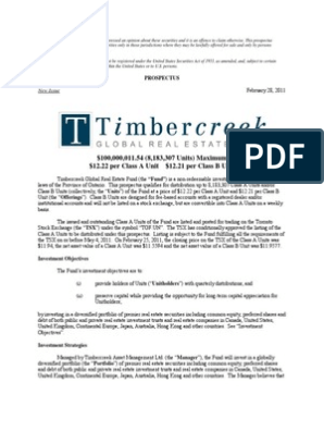 Timber Creek | Investment Fund | Investment Trust