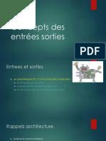 Chap Concepts Des Entrées Sorties P1