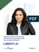 Así es el programa del PP para las elecciones en Madrid