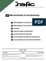 Mr 343 Trafic 5 Mécanisme Et Accessoires