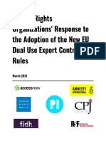 Analysis EU Surveillance Tech Export Rules