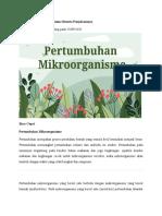 Pertumbuhan Mikroorganisme Beserta Penjelasannya