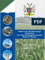 Budget Statement 2011-2012