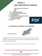 1 Unidad 5 (14 Y 15 SM) LA ORGANIZACIÓN Y DIRECCIÓN DE LA EMPRESA