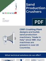 Sand Production Plants