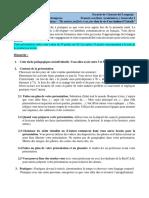 Consignes Français I Tâche 1 (Ma Routine Et Ma Matière Préférée)