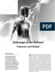 Änderungen an der Software - Frequenzen statt Skalpell