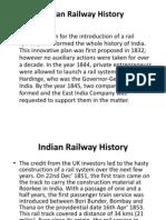 Indian Railway History