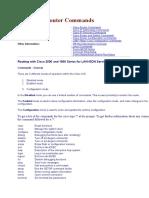 Cisco IOS Router Commands