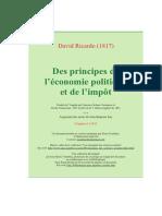 RICARDO Economie Politique Et Impot