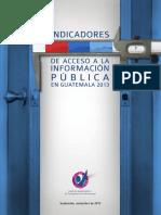 Indicadores de acceso a la información pública 2013