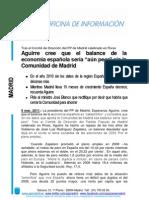 Esperanza Aguirre balance economía Comunidad de Madrid