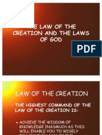 THE LAW OF THE CREATION AND THE LAWS