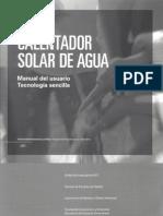 manual calentador solar