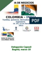 Empresas indias participantes rueda de negocios Colombia marzo 2011