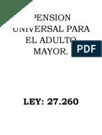 Pension Universal Para El Adulto Mayor