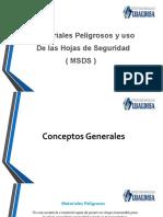 MATERIALES PELIGROSOS Y USO DE LAS MSDS