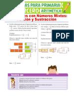 Adición-y-Sustracción-de-Números-Mixtos-para-Tercero-de-Primaria