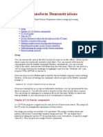 Fourier Transform Demonstrations