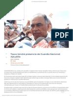26-06-2019 Taxco tendrá presencia de Guardia Nacional
