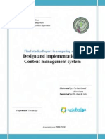 Design and implementation of Content management system