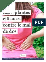Plantes contre le mal de dos