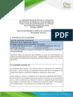 Guía de Actividades y Rúbrica de Evaluación - Unidad 1 - Tarea 1 - Dimensión Técnica