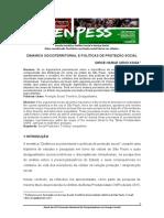 DINAMICA SOCIOTERRITORIAL E POLÍTICAS DE PROTEÇÃO SOCIAL