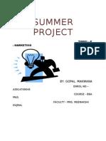 SUMMER INTERNSHIP PROJECT gopal