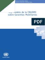 Ley Modelo Sobre Garantías Mobiliarias