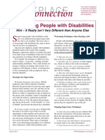 Supervising People with Disabilities - Hint, It Really Isn't Very Different than Anyone Else
