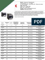 Catálogo Contator Steck SD
