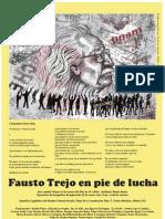 Cartel del Homenaje al Dr. Fausto Trejo Fuentes, con arte gráfico de Paulino García