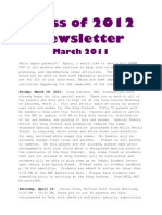 Newsletter March 20112