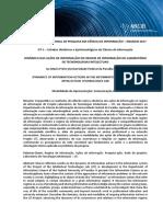 DINÂMICA DAS AÇÕES DE INFORMAÇÃO NO REGIME DE INFORMAÇÃODO LABORATÓRIODETECNONOLOGIASINTELECTUAIS