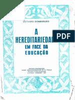 3 A hereditariedade em face da educação
